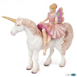 Elfės balerinos ir vienaragio figūrėlės