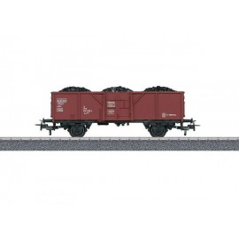 Pusvagonis su anglių kroviniu