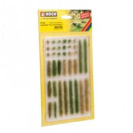 Žolės juostelės ir kuokštai