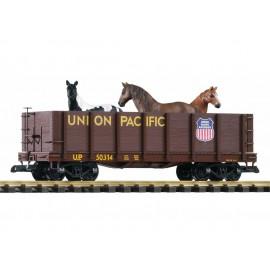 Atviras pusvagonis su žirgais