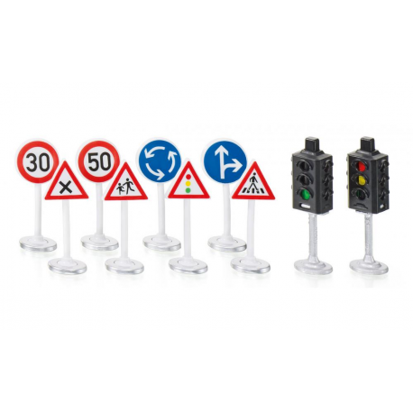 SIKUWORLD kelio ženklų ir šviesoforų rinkinys