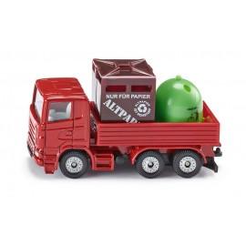Sunkvežimis su rūšiavimo konteineriais