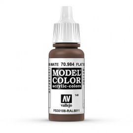Akriliniai dažai - matinė tamsiai ruda