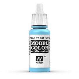 Akriliniai dažai - matinė šviesiai mėlyna