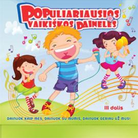 CD Populiariausios vaikiškos dainelės-3