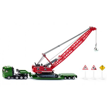 Heavy haulage transporter with cable excavator and service