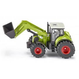 Claas Axion 850 traktorius su krautuvu