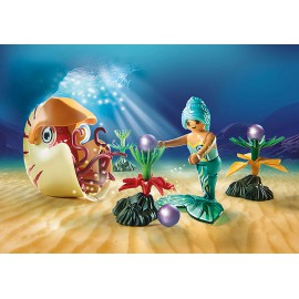 Mermaid with Sea Snail Gondola