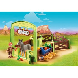 Snips and Senor Carrots with horse stall
