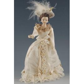 Lady in beige dress