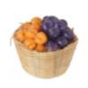 Slyvos ir abrikosai krepšyje