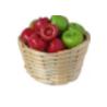 Krepšys su obuoliais