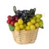 Krepšys su vynuogėmis