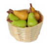 Pears in a basket