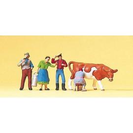 Ūkininkai ir karvė