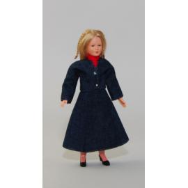 Woman in blue suit