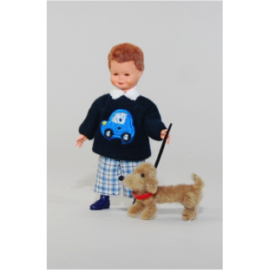 Boy in plaid pants