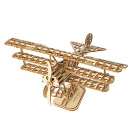 Wooden 3D airplane puzzle