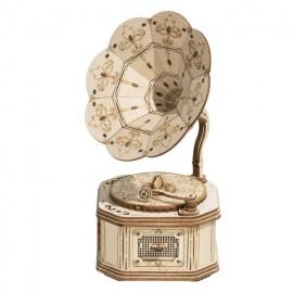 Medinė 3D gramofono dėlionė