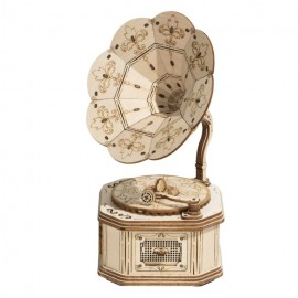 Wooden 3D Gramophone puzzle
