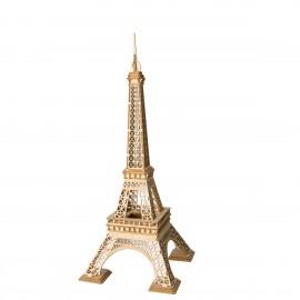 Wooden 3D Eiffel tower puzzle