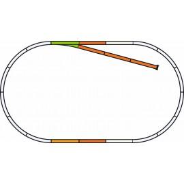 PIKO A-Track w. Roadbed Set B