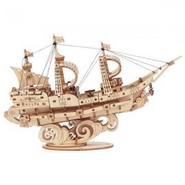Medinė 3D laivo dėlionė