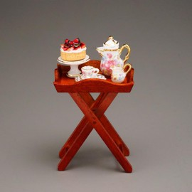Serving Table with Coffeeset and Cake