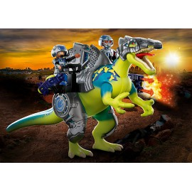 Spinozauras: Dviguba gynybos galia