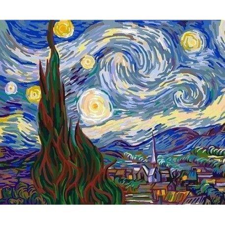 Van Gogo žvaigždėta naktis