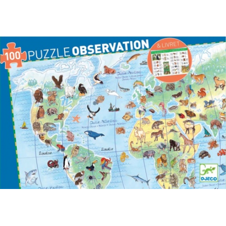 Djeco World's animals observation puzzle