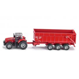 Traktorius Massey Ferguson su priekaba
