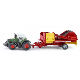 Tractor with potato harvester