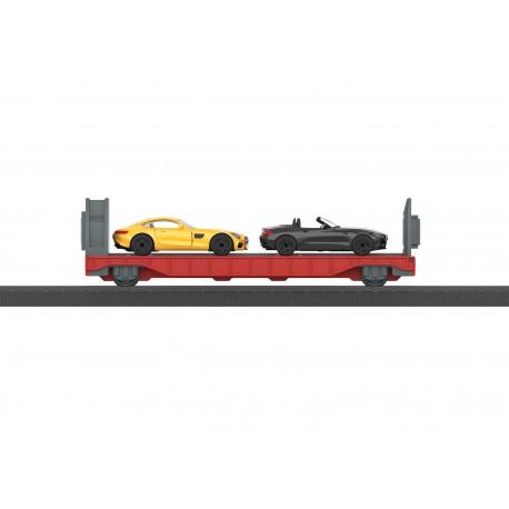 Platforma su dviem automobiliais