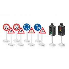 Traffic lights and road signs